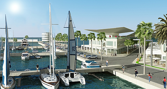 Digital impression of the marina