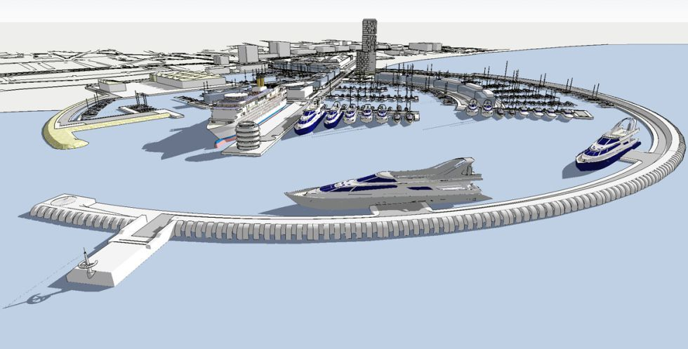 Al-Thani 3D Model Port Perspective
