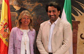 Sheikh with the Mayor of Marbella